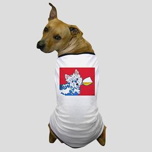 White Wine Westie Dog T-Shirt