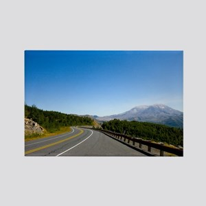 Road to Mt. St. Helens Rectangle Magnet