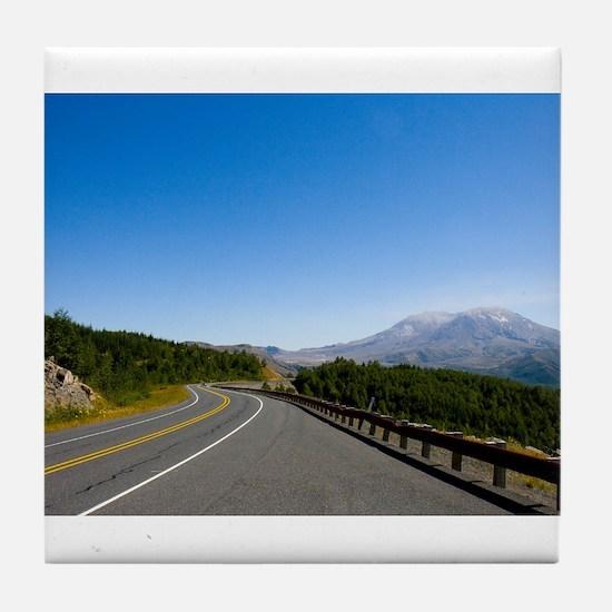 Road to Mt. St. Helens Tile Coaster