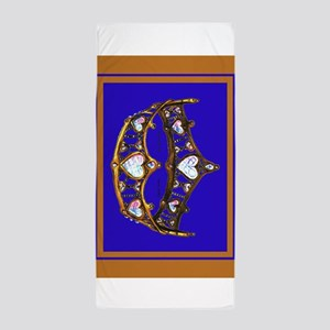 Queen of Hearts Gold Crown Tiara Royal Blue Violet