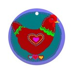 Chicken Ornament (Round)