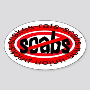 NO SCABS Oval Sticker