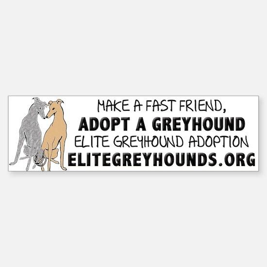 Adopt A Greyhound Bumper Bumper Bumper Sticker