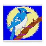 Blue Jay Tile Coaster