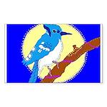Blue Jay Rectangle Sticker 10 pk)