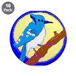 """Blue Jay 3.5"""" Button (10 pack)"""