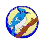 """Blue Jay 3.5"""" Button"""