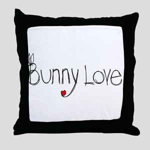 Bunny Love Throw Pillow