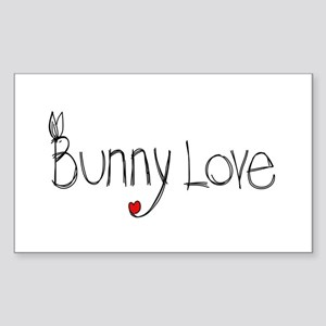 Bunny Love Rectangle Sticker