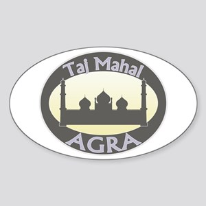 Taj Mahal India Oval Sticker