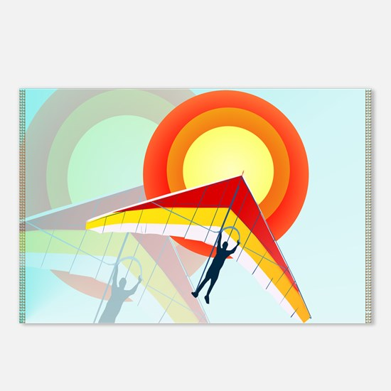 Hang Glider Postcards (Package of 8)