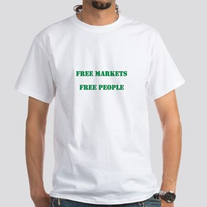 Free Markets, Free People White T-Shirt