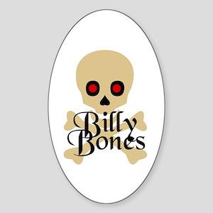 Billy Bones Oval Sticker