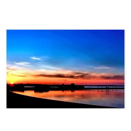 Setting Sun in Newport Postcards (Package of 8)