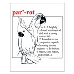 Dictionary Parrot Small Poster