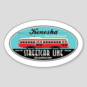 Kenosha Streetcar Oval Sticker
