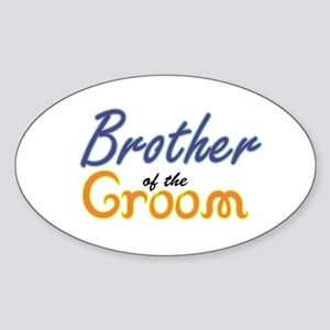 Brother of the Groom Oval Sticker