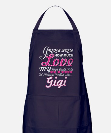 I Never Knew How Much Love My Heart H Apron (dark)