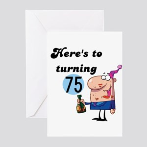 75th Birthday Greeting Cards Pk Of 10