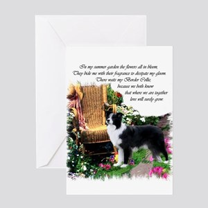 Border Collie Art Greeting Card