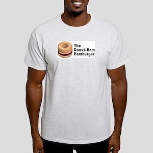 Donut Ham Hamburger Ash Grey T-Shirt