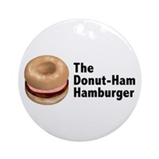 Donut Ham Hamburger Ornament (Round)