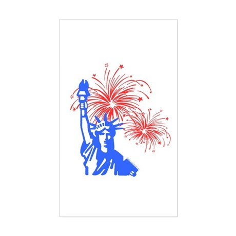 Fireworks Liberty Rectangle Sticker