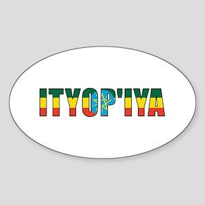 Ethiopia Oval Sticker