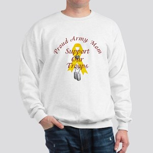 Support Our Troops Army Mom Sweatshirt