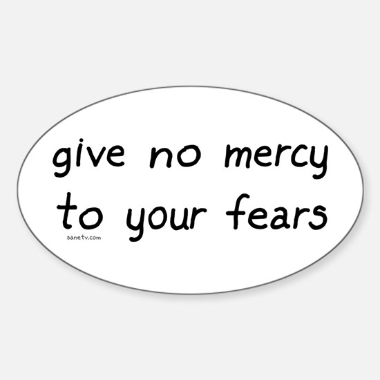 No Mercy Oval Decal