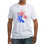 ILY Fireworks Liberty Fitted T-Shirt