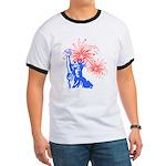 ILY Fireworks Liberty Ringer T