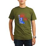 ILY Fireworks Liberty Organic Men's T-Shirt (dark)