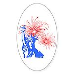 ILY Fireworks Liberty Oval Sticker