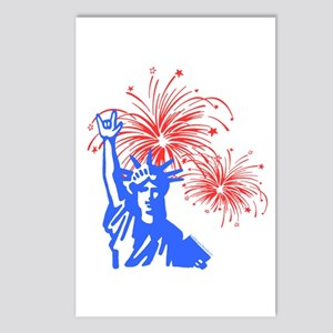 ILY Fireworks Liberty Postcards (Package of 8)