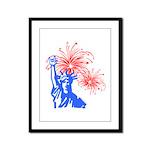 ILY Fireworks Liberty Framed Panel Print