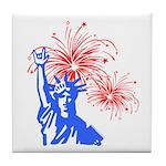 ILY Fireworks Liberty Tile Coaster