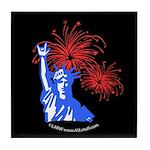 ILY Fireworks Liberty Night Tile Coaster