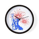 ILY Fireworks Liberty Wall Clock