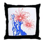 ILY Fireworks Liberty Throw Pillow