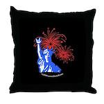 ILY Fireworks Liberty Night Throw Pillow