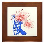 ILY Fireworks Liberty Framed Tile
