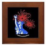 ILY Fireworks Liberty Night Framed Tile