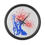ILY Fireworks Liberty Large Wall Clock