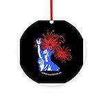 ILY Fireworks Liberty Ornament (Round)