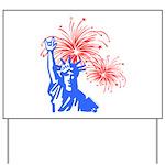 ILY Fireworks Liberty Yard Sign