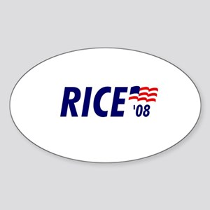 Rice 08 Oval Sticker