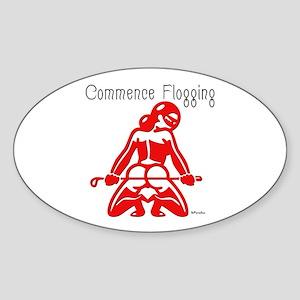 Commence Flogging Oval Sticker
