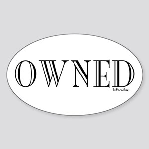 OWNED Oval Sticker