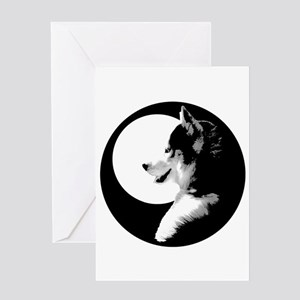 Siberian Husky Sled Dog Greeting Card
